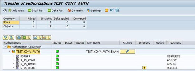 SAP BW/4HANA Migration – Authorisation