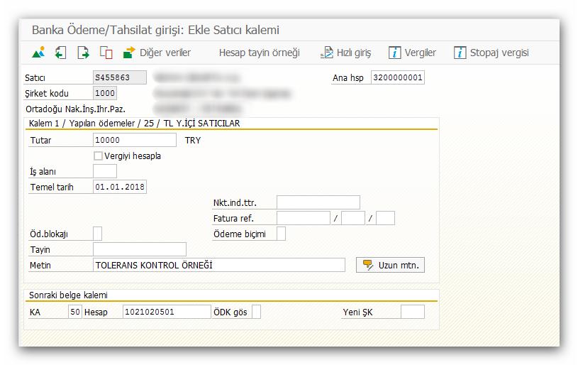 SAP Sisteminde Tolerans Gruplarının Tanımlanması
