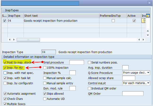 Usage decision with HUM and WM active: Part-I - SAP