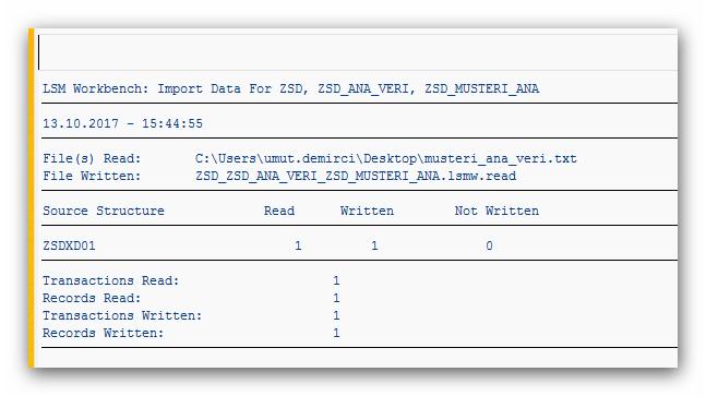 SAP Sistemine Toplu Veri Aktarımı SAP LSMW Kullanımı
