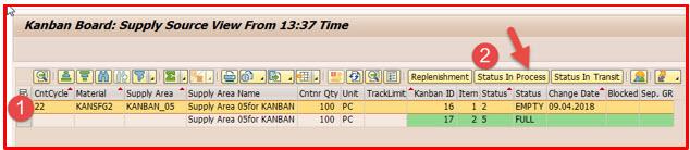Kanban Process in S/4 HANA 1709