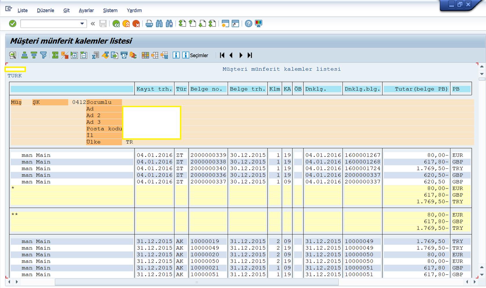 SAP FI (Finans) Modülü Raporları