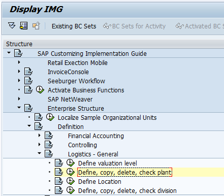 SAP Sisteminde Üretim Yeri Oluşturma