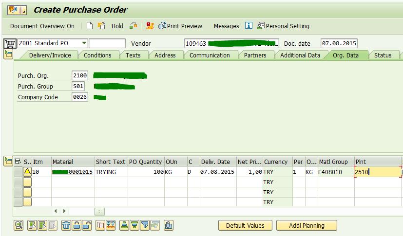 SAP ERP User Manual of Purchase Order - SAP Modulleri Kullanici