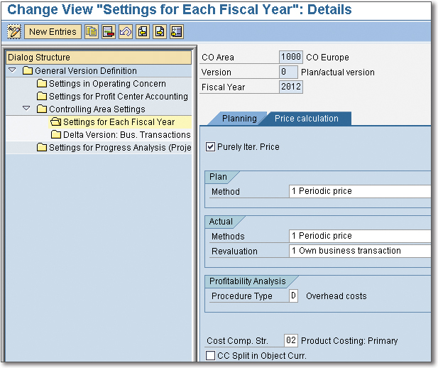 Assigning and Checking Cost Component Structures in SAP Controlling