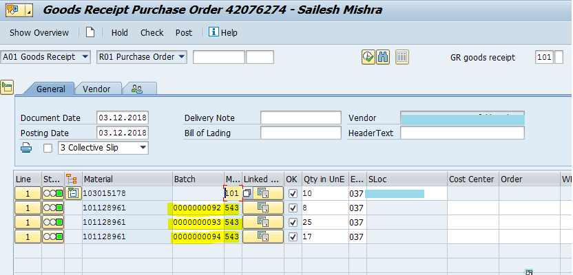 Elasticity of batch management in subcontracting using delivery