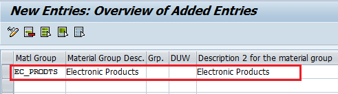 How to Create Material Group in SAP