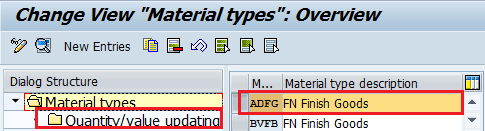 How to Create Material Types in SAP