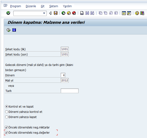 SAP Lojistik Dönem Açma-MMPV