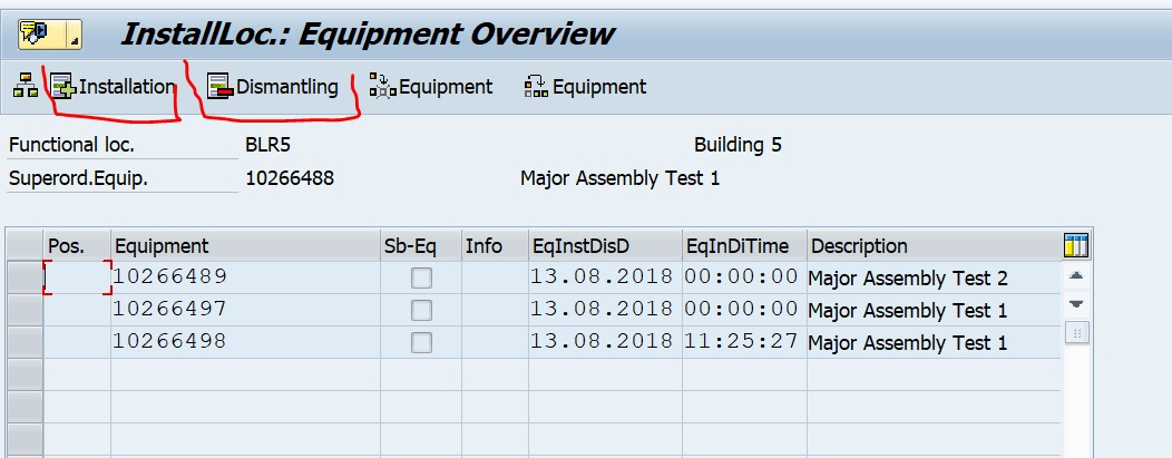 How to create equipment hierarchy – Manually and using function module.