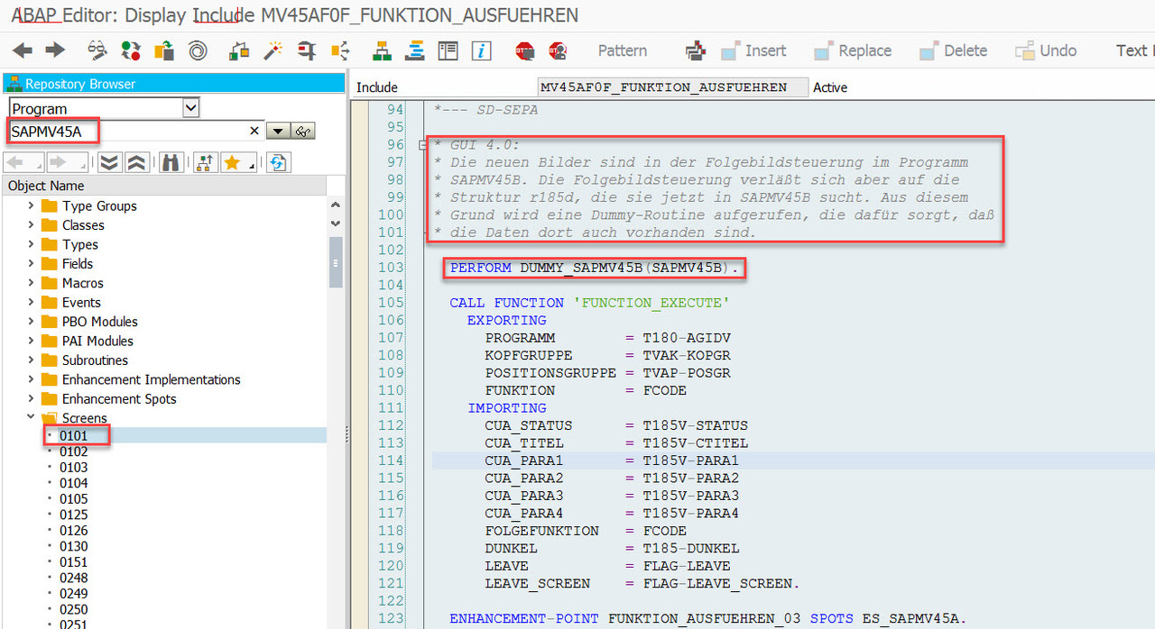 Sales Document Screen Sequence Control - SAP Modulleri