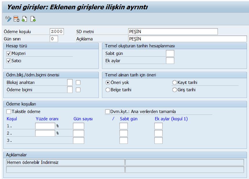 SAP FI - Ödeme Yöntemlerinin Tanımlanması