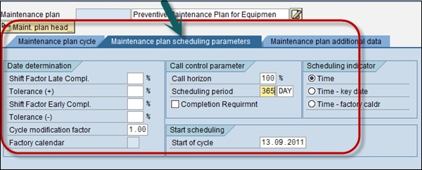 SAP PM - Maintenance Planning